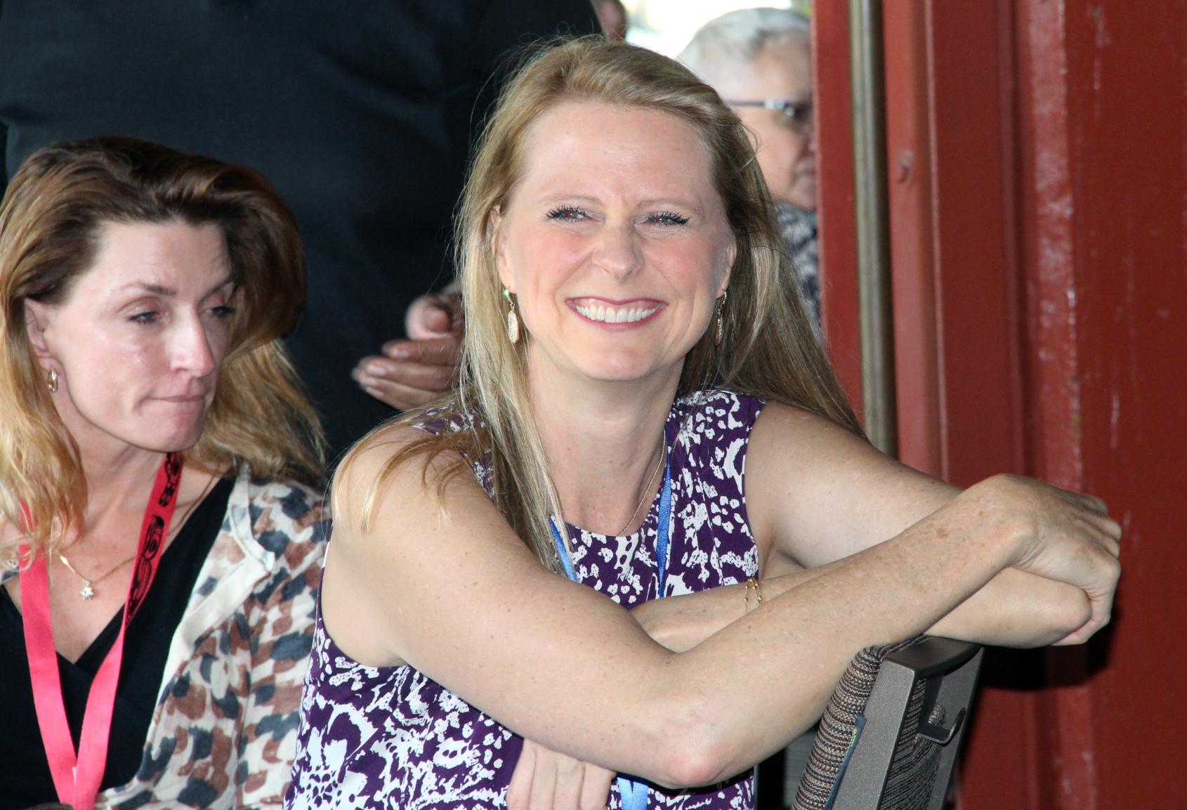 Stefanie Carnes at the SASH awards banquet.