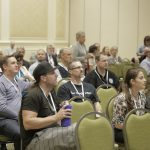 Attendees listen intently to the speaker at the SASH annual conference.